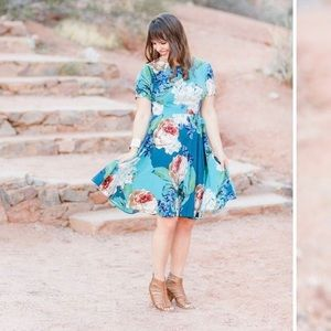 Floral Anthropologie Dress with sleeves